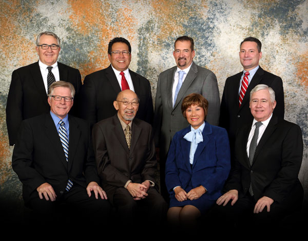 Picture of all seven members of the 2015 Board Commissioners