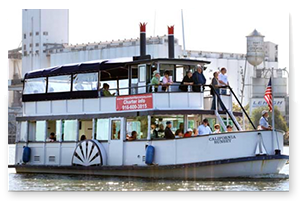 Summer Boat Tour Ferry on the river
