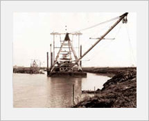 1930's Boat dredging the river channel