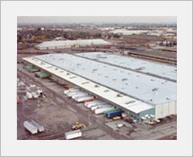 1970's A large distribution warehouse at the Port of Stockton