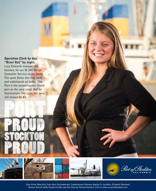Port Proud Stockton Proud Ad Campaign - Lacy Edwards