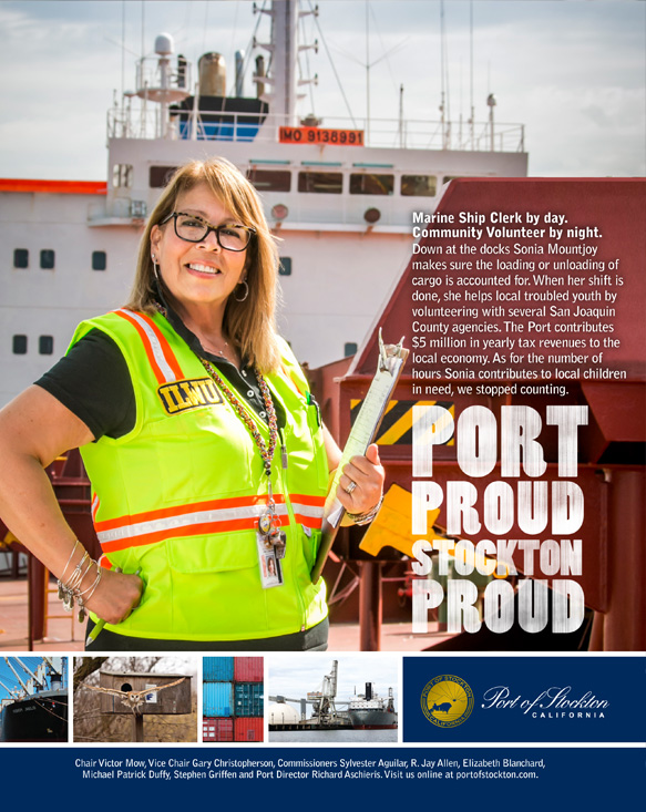 Port Proud Stockton Proud Ad Campaign - Sonia Mountjoy