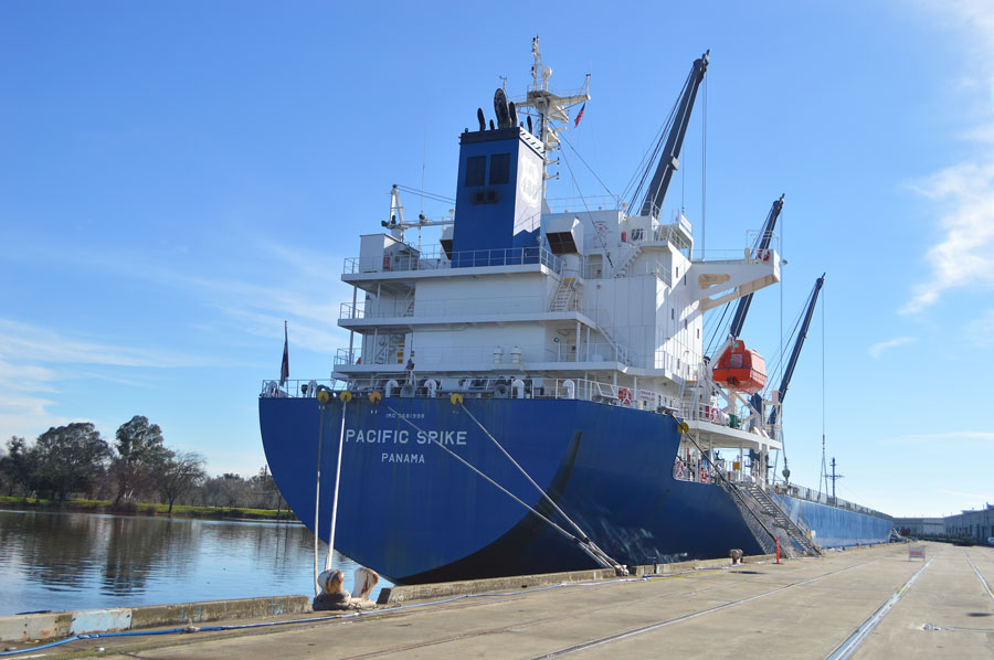 Pacific Spike ship at the Port of Stockton.