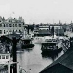 Ferries docked in Port of Stockton during the early years