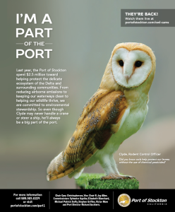 See how Barn Owls are in the I'm Part of the Port Campaign